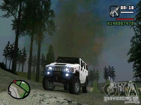 Hummer H2 для GTA San Andreas вид сзади