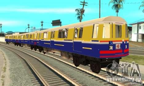 Liberty City Train Italian для GTA San Andreas вид сзади слева