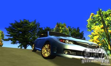 Subaru Impresa WRX STI 2008 для GTA San Andreas вид изнутри