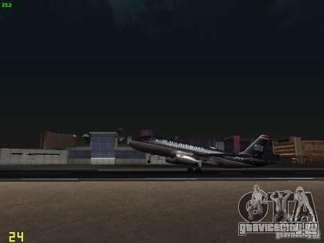 Airbus A319 USAirways для GTA San Andreas вид изнутри