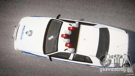 Ford Crown Victoria Croatian Police Unit для GTA 4 вид сзади слева