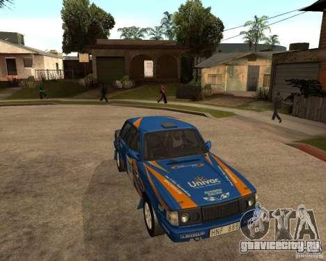 Volvo 242 Lightspeed Rally Edition для GTA San Andreas вид справа