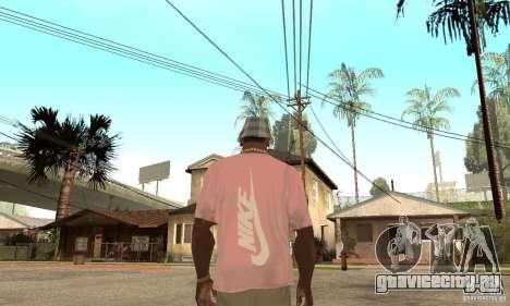 Pink Nike T-Shirt для GTA San Andreas второй скриншот