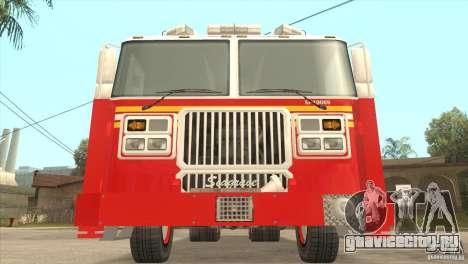 FDNY Seagrave Marauder II Tower Ladder для GTA San Andreas вид сзади