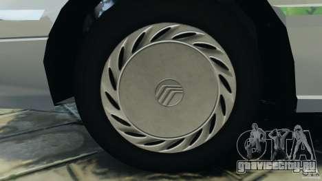 Mercury Tracer 1993 v1.1 для GTA 4 вид сзади