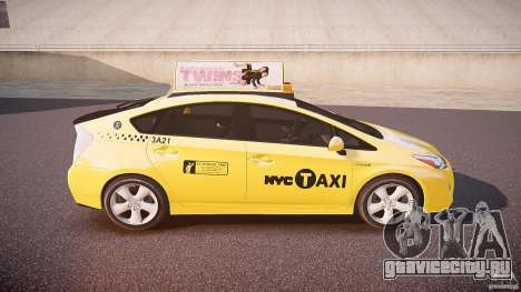 Toyota Prius NYC Taxi 2011 для GTA 4 вид сверху