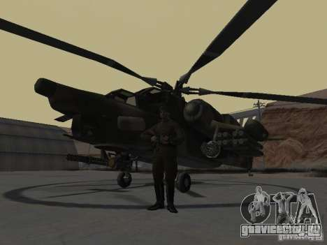 МИ-28 для GTA San Andreas вид слева