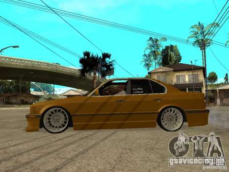 BMW e34 Drift Body для GTA San Andreas вид слева