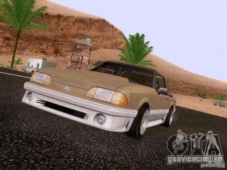 Ford Mustang GT 5.0 Convertible 1987 для GTA San Andreas вид слева