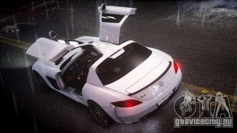 Mercedes-Benz SLS 2011 Brabus AMG Widestar v1.1 для GTA 4 вид слева