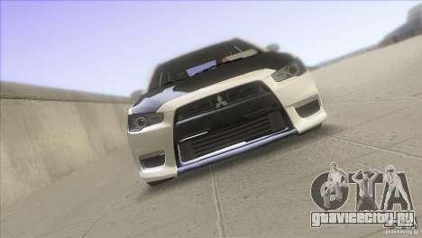 Mitsubishi Lancer Evo IX DIM для GTA San Andreas вид справа