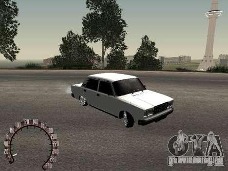 Ваз 2107 БПАN для GTA San Andreas вид сзади слева