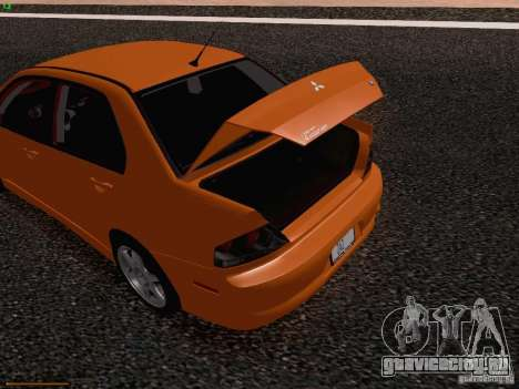 Mitsubishi Lancer Evolution VIII для GTA San Andreas вид снизу
