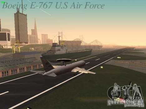 Boeing E-767 U.S Air Force для GTA San Andreas вид снизу