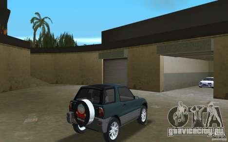 Toyota RAV4 для GTA Vice City вид справа
