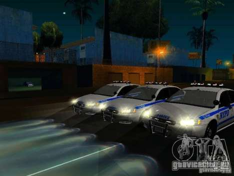 Chevrolet Impala NYPD для GTA San Andreas салон