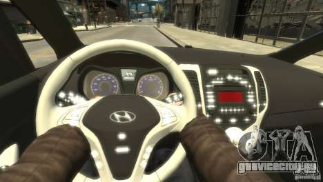 Hyundai IX20 2011 для GTA 4 вид изнутри