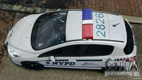 Peugeot 308 GTi 2011 Police v1.1 для GTA 4 вид справа