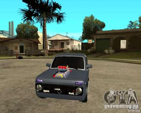 NIVA Mustang для GTA San Andreas вид сзади