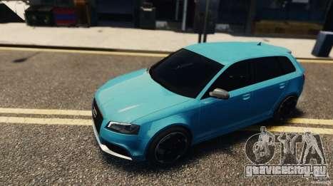Audi RS3 Sportback V1.0 для GTA 4 вид сзади слева