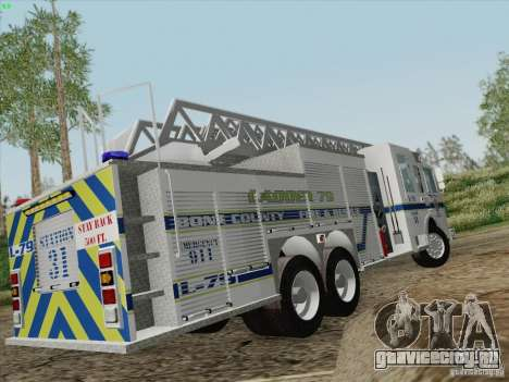 Pierce Puc Aerials. Bone County Fire & Ladder 79 для GTA San Andreas салон