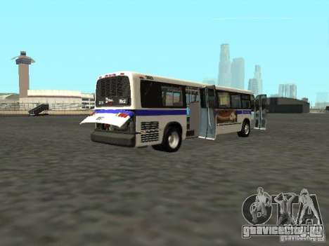 GMC RTS MTA New York City Bus для GTA San Andreas вид справа