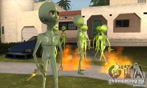 Alien для GTA San Andreas третий скриншот