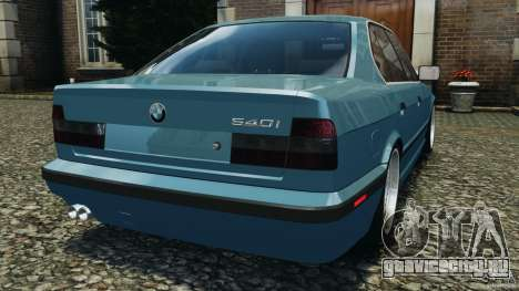 BMW E34 V8 540i для GTA 4 вид сзади слева