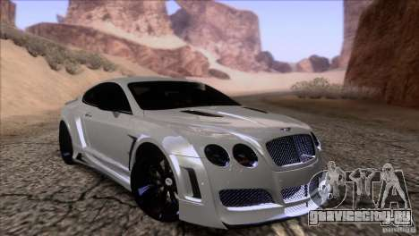 Bentley Continental GT Premier 2008 V2.0 для GTA San Andreas салон