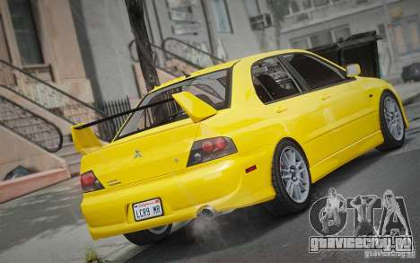 Mitsubishi Lancer Evolution IX MR 2006 для GTA 4 вид слева
