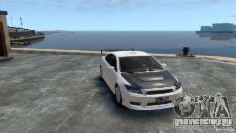 Toyota Scion для GTA 4 вид сзади слева