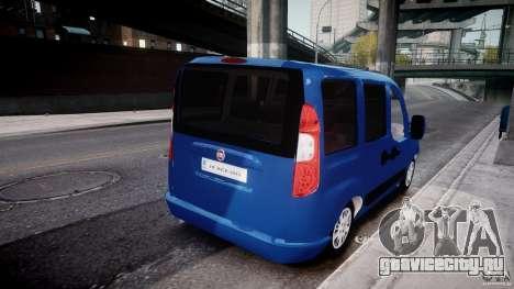 Fiat Doblo 1.9 2009 для GTA 4 вид изнутри
