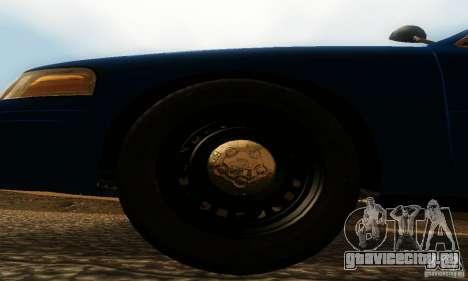 Ford Crown Victoria Michigan Police для GTA San Andreas вид справа