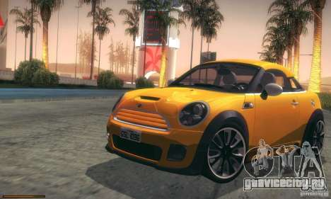 Mini Concept Coupe 2010 для GTA San Andreas вид сбоку