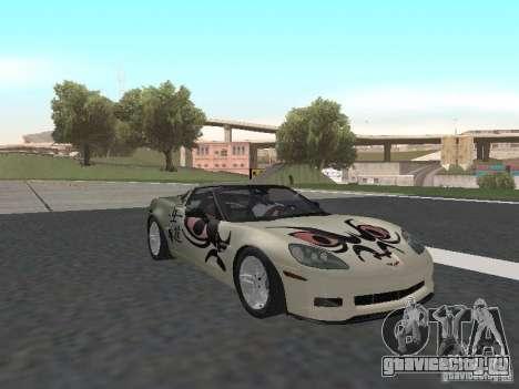 Chevrolet Corvette Z06 для GTA San Andreas вид сверху