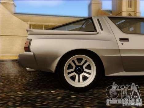 Mitsubishi Starion ESI-R 1986 для GTA San Andreas вид изнутри