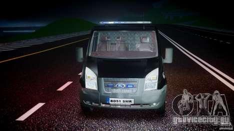 Ford Transit SWAT [ELS] для GTA 4 вид сбоку