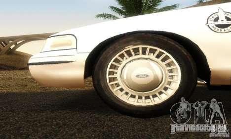 Ford Crown Victoria Neberska Police для GTA San Andreas вид справа