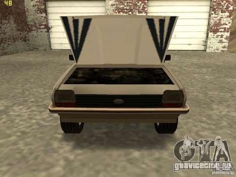 Ford Fiesta 1981 для GTA San Andreas вид сзади слева