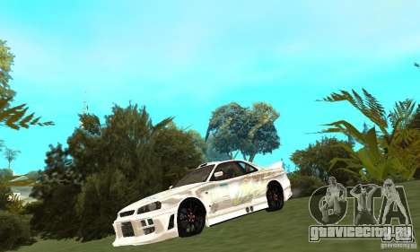 Nissan SkyLine R34 Tunable V2 для GTA San Andreas вид слева