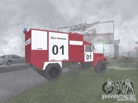 ГАЗ 3309 Пожарная для GTA San Andreas вид слева