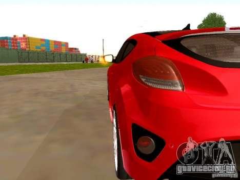 Hyundai Veloster Turbo v1.0 для GTA San Andreas вид справа