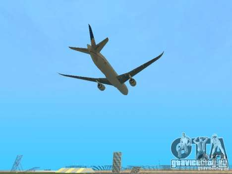 Boeing 787 Dreamliner United Airlines для GTA San Andreas вид сзади