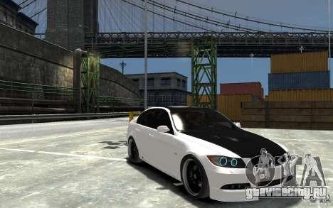 BMW 330i E60 Tuned 2 для GTA 4 вид сзади