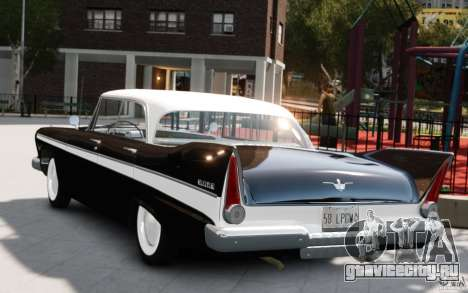 Plymouth Belvedere Sport Sedan 1957 для GTA 4 вид слева