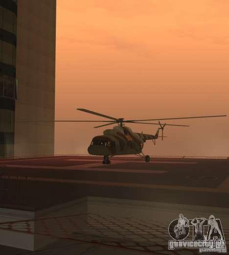 МИ-17 Военный для GTA San Andreas вид сзади слева