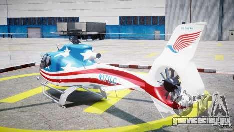 Eurocopter EC 130 B4 USA Theme для GTA 4 вид сзади слева