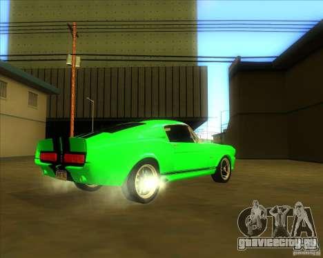 Shelby GT500 Eleanora clone для GTA San Andreas вид справа