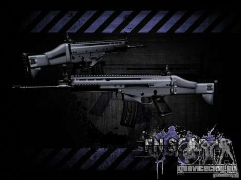 FN Scar-L HD для GTA San Andreas