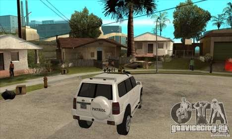 Nissan Patrol 2005 для GTA San Andreas вид справа